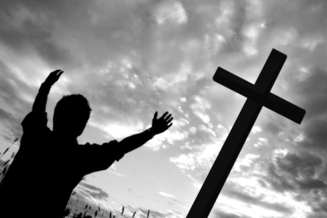 black_white_man_at_cross